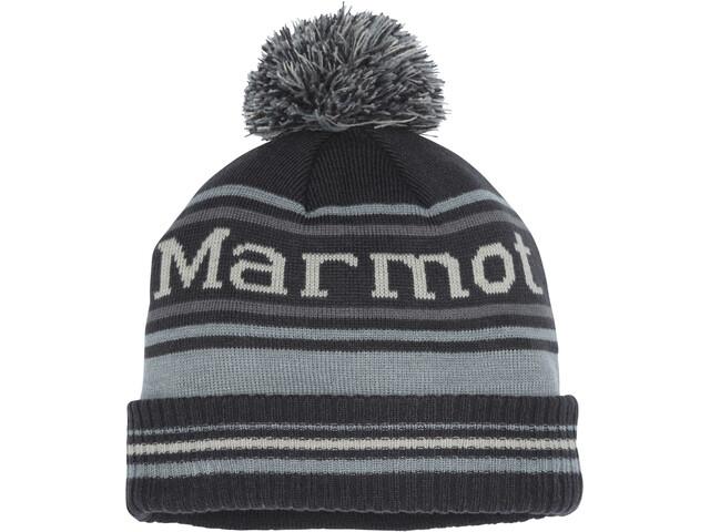 Marmot Retro Bonnet à pompon, dark steel/grey storm